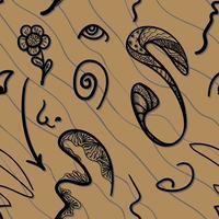 Abstração em um fundo marrom