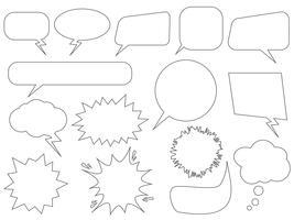 Conjunto de bolhas do discurso - ilustração vetorial