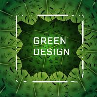 Fundo de folhas verdes tropicais vetor