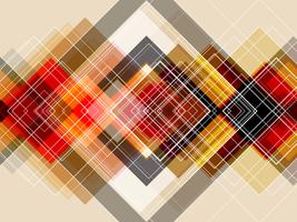 Camada quadrada diagonal com fundo abstrato.