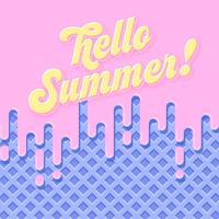 Fundo de Verão de sorvete de morango derretido vetor