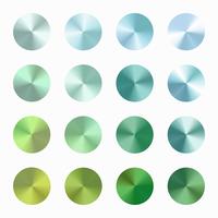 Conjunto de vetor de gradiente cônico azul verde