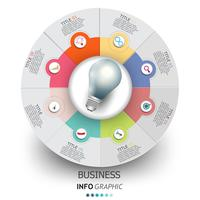 Ícones de design e marketing de vetor infográficos