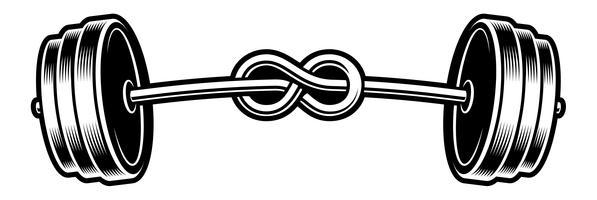 ilustração em preto e branco de uma barra bored vetor