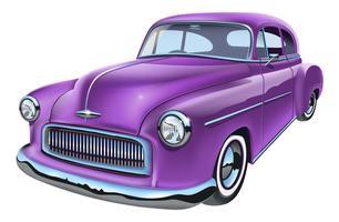 Carro americano clássico vintage vetor