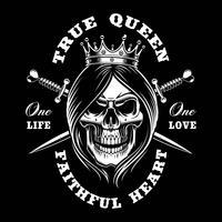 Crânio da rainha, ilustração do vetor.