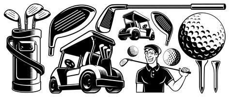 Clipart vetorial de golfe