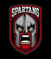 Design de logotipo guerreiro espartano. vetor