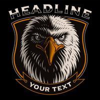 Vetorial, ilustração, com, cabeça, de, águia vetor