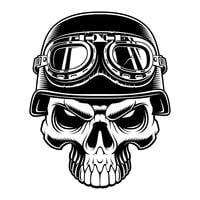 Crânio de motociclista
