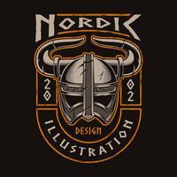 Capacete viking vetor