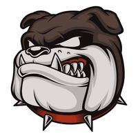 Cabeça do Bulldog Irritado