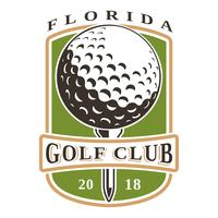 Logotipo de vetor de bola de golfe