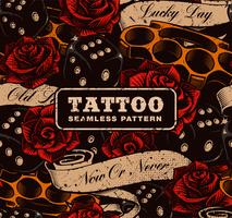 Tatuagem de fundo sem emenda. vetor