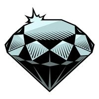 Ilustração em vetor de diamante.