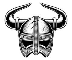 Capacete viking. vetor