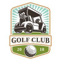 Logotipo de vetor de carrinho de golfe