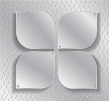 placa de metal e espaço para escrever plano de fundo
