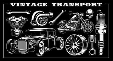 Conjunto de transporte vintage