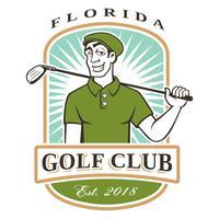 Logotipo de vetor de golfista