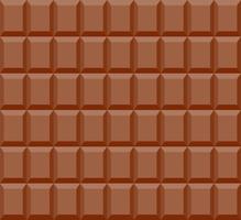 Padrão sem emenda de fundo barra de chocolate - ilustração vetorial vetor