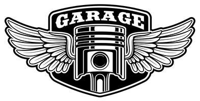 Design de patch de motoqueiro com pistão vetor