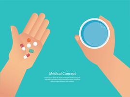 tomando o conceito de comprimidos de médicos vetor