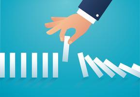 o efeito dominó. conceito de negócios vetor