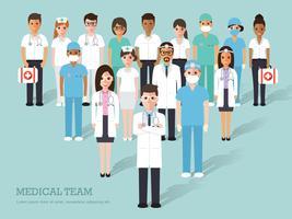 Caracteres médicos e hospitalares. vetor