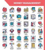 Ícones de gerenciamento de dinheiro