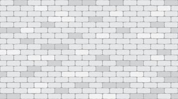 Tijolo branco ou cinzento sem costura padrão parede textura de fundo - ilustração vetorial