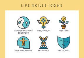 Ícones de habilidades de vida