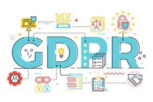 GDPR (Regulamento Geral de Proteção de Dados) vetor
