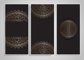 Desenhos decorativos de mandala vetor