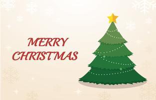 Árvore de Natal e espaço para plano de fundo do texto vetor