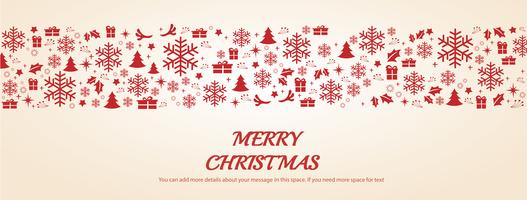 Cartão de Natal com ilustração em vetor fundo espaço padrão
