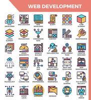 Ícones de desenvolvimento web vetor