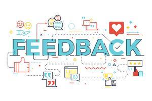Ilustração de letras de palavra de feedback