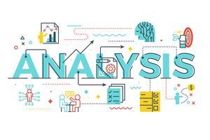 Ilustração de letras de palavra de análise