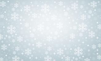 fundo de banner de inverno floco de neve vetor
