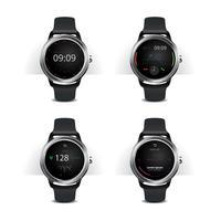 Relógio inteligente com ilustração vetorial de conjunto de Display Digital