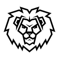 Leão cabeça cartoon ilustração vetor
