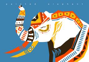 Ilustração abstrata de elefante pintado vetor