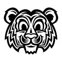 Gato de tigre bonito dos desenhos animados vetor