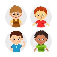 Meninos, personagem, ilustração vetor