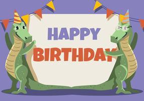 Crocodilos de animais feliz aniversário vetor