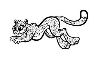 Ilustração em vetor grande gato chita