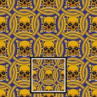 teste padrão decorativo do crânio - vetor