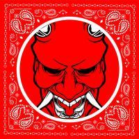 demônio de caveira bandana vetor