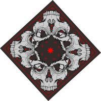 bandana com crânio - vetor